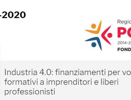 INDUSTRIA 4.0: FINANZIAMENTI PER VOUCHER FORMATIVI A IMPRENDITORI E LIBERI PROFESSIONISTI